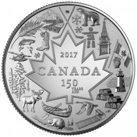 2017 Canadian $3 Heart of Our Nation - Fine Silver Coin