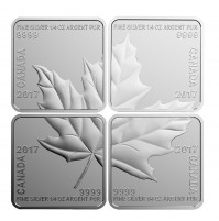 2017 Fine Silver 3 Dollar Coin Set - Maple Leaf Quartet