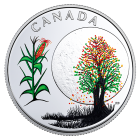 2018 Canadian $3 Thirteen Teachings From Grandmother Moon: Corn Moon - Fine Silver Coin