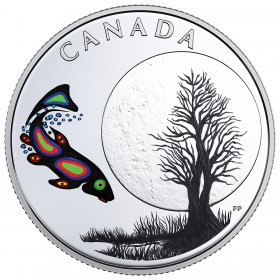 2018 Canadian $3 Thirteen Teachings From Grandmother Moon: Sucker Moon - Fine Silver Coin