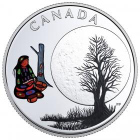 2018 Canadian $3 Thirteen Teachings From Grandmother Moon: Sugar Moon - Fine Silver Coin