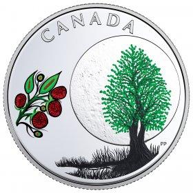 2018 Canadian $3 Thirteen Teachings From Grandmother Moon: Raspberry Moon - Fine Silver Coin