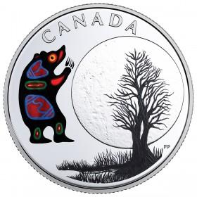 2018 Canadian $3 Thirteen Teachings From Grandmother Moon: Bear Moon - Fine Silver Coin