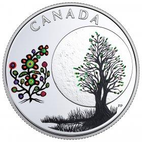 2018 Canadian $3 Thirteen Teachings From Grandmother Moon: Flower Moon - Fine Silver Coin