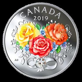2019 Canadian $3 Celebration of Love - Fine Silver Coin with Swarovski® Crystal