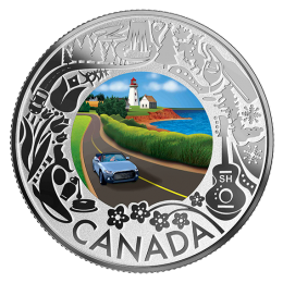 2019 Canadian $3 Coastal Drive: Celebrating Canadian Fun and Festivities - Fine Silver Coloured Coin