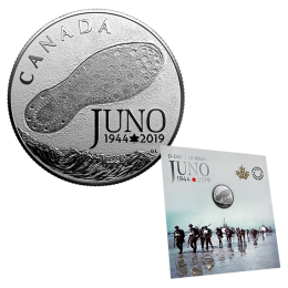 2019 Canadian $3 75th Anniversary of the Normandy Campaign: D-Day at Juno Beach - 1/4 oz Fine Silver Coin