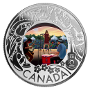 2019 Canadian $3 Folk Music: Celebrating Canadian Fun and Festivities - Fine Silver Coloured Coin