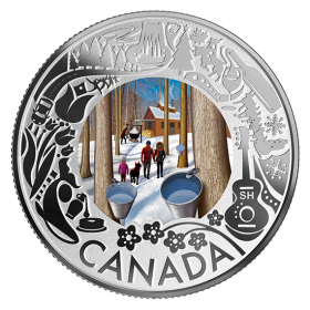 2019 Canadian $3 Maple Syrup Tasting: Celebrating Canadian Fun and Festivities - Fine Silver Coloured Coin