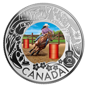2019 Canadian $3 Rodeo: Celebrating Canadian Fun and Festivities - Fine Silver Coloured Coin