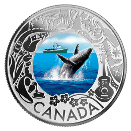 2019 Canadian $3 Whale Watching: Celebrating Canadian Fun and Festivities - Fine Silver Coloured Coin
