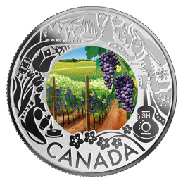 2019 Canadian $3 Wine Tasting: Celebrating Canadian Fun and Festivities - Fine Silver Coloured Coin
