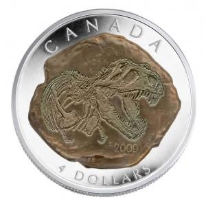 2009 Canada Fine Silver $4 Coin - Tyrannosaurus Rex