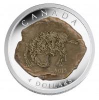 2010 Fine Silver 4 Dollar Coin - Euoplocephalus