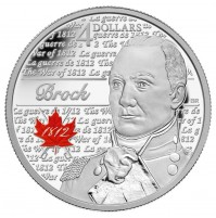 2012 Fine Silver 4 Dollar Coin - Heroes of 1812, Sir Isaac Brock