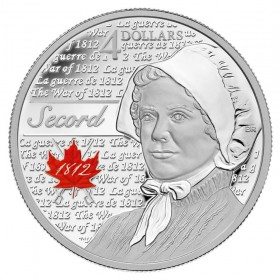 2013 Canada Fine Silver 4 Dollar Coin - Heroes of 1812, Laura Secord