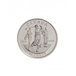 1999 Canada Sterling Silver 50 Cent Coin - Canadian Sports Firsts: First Canadian Open Golf Championship