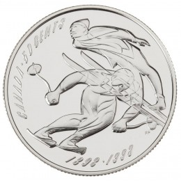 1998 Sterling Silver 50 Cent Coin - Canadian Sports Firsts: First Canadian Ski Running/Ski Jumping Championship