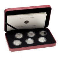 2005 Sterling Silver 50 Cent 6-Coin Set - Second World War Series