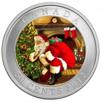 2012 50 Cent Coin - Santa's Magical Visit