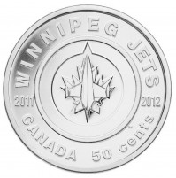 2011 50 Cent Coin - Winnipeg Jets