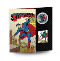 2013 50 Cent Coin and Stamp Set - Superman™: Then and Now