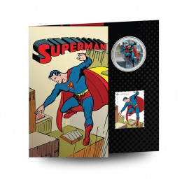 2013 Canada 50 Cent Coin and Stamp Set - Superman™: Then and Now