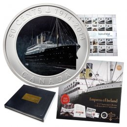2014 (1914-) Canadian 50-Cent Empress of Ireland 100th Anniv Collection Coin & Stamp Set