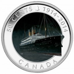 2014 Canada 50 Cent Coin - Lost Ships in Canadian Waters: RMS Empress of Ireland