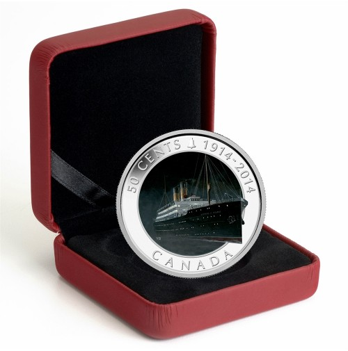 2014 Fine Silver 50 Cent Coin - Lost Ships in Canadian Waters: RMS Empress of Ireland