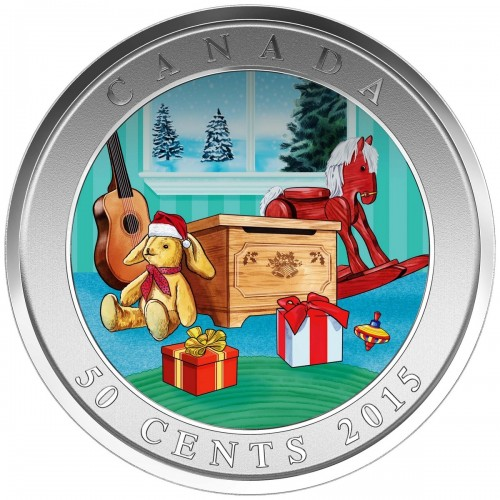 2015 Canadian 50-Cent Holiday Toy Box Lenticular Coin
