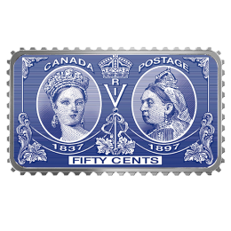 2019 Canadian 50-Cent Queen Victoria Diamond Jubilee Stamp - 1 oz Fine Silver Coin