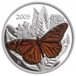 2005 Canada Sterling Silver 50 Cent Coin - Monarch Butterfly