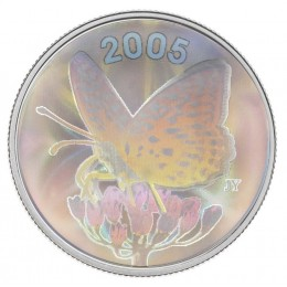 2005 Canada Sterling Silver 50 Cent Coin - Fritillary Butterfly