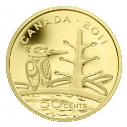 2011 Canada 1/25 oz Pure Gold 50 Cent Coin - Boreal Forest