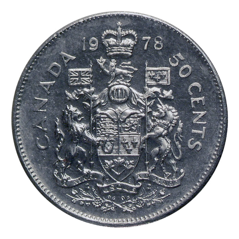 1982 CANADA 50 CENTS PROOF-LIKE HALF DOLLAR COIN
