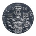 1978 ROUND BEADS Canadian 50-Cent Coat of Arms Half Dollar Coin (Circulated)