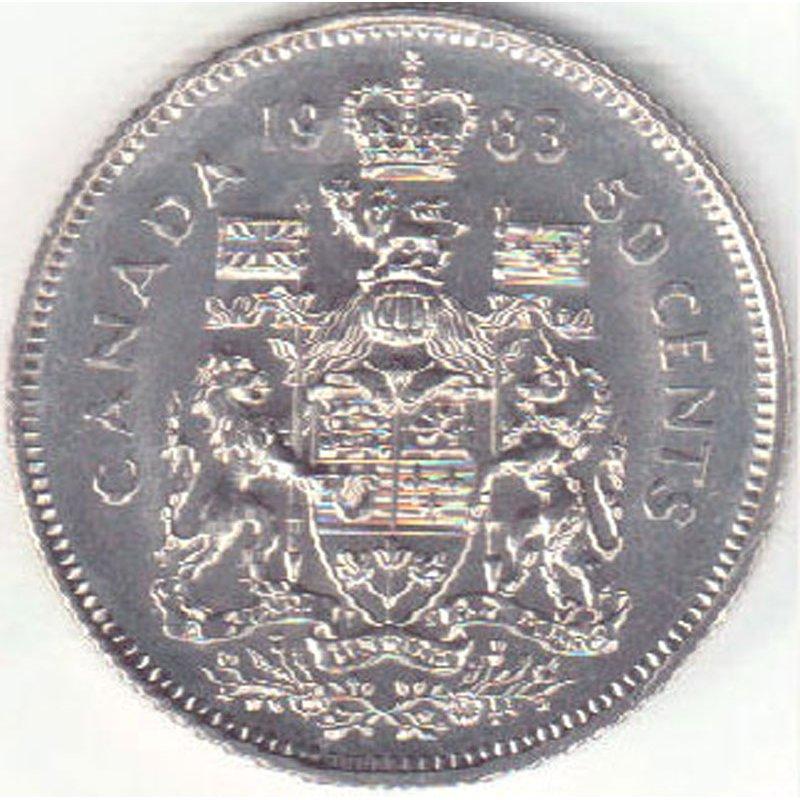 1978 Canada Half Dollar-50 Cent Coin; Circulated;