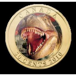 2010 Canada 50 Cent Coin - Lenticular Dinosaur Daspletosaurus Torosus