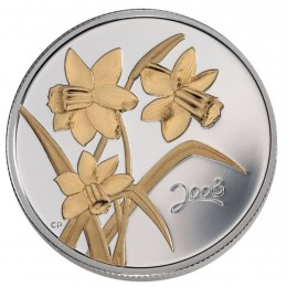 2003 Canadian 50-Cent Golden Daffodil Sterling Silver Gold-plated Coin