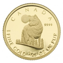 2007 Canada 1/25 oz Pure Gold 50 Cent Coin - The Wolf