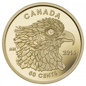 2014 Canada 1/25 oz Pure Gold 50 Cent Coin - Osprey