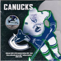 2009-2010 Canada NHL® On-Ice 50 Cent Coin - Vancouver Canucks