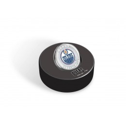 2009 Canada NHL® Puck & 50 Cent Coin Set - Edmonton Oilers