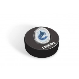 2009 Canada NHL® Puck & 50 Cent Coin Set - Vancouver Canucks