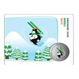 2010 Canada Olympic Mascot 50 Cent Coin Collector Card - Freestyle Skiing