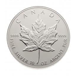 1998 Canada 10 oz Fine Silver $50 Coin - 10th Anniversary of the Silver Maple Leaf