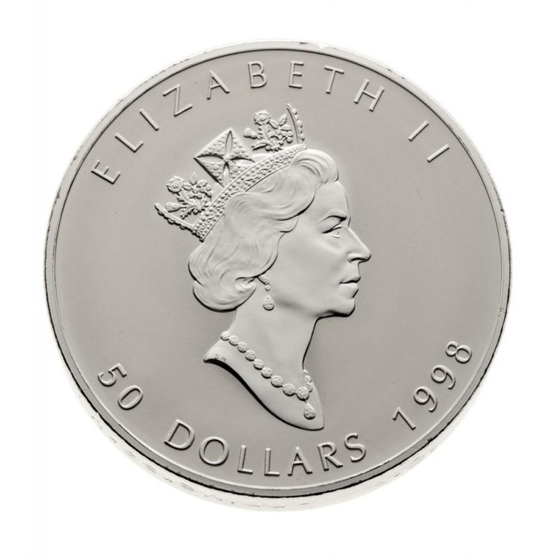 1998 Canada 10 Oz Fine Silver 50 Coin 10th Anniversary