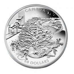 2006 Canada 5 oz Fine Silver $50 Coin - The Four Seasons