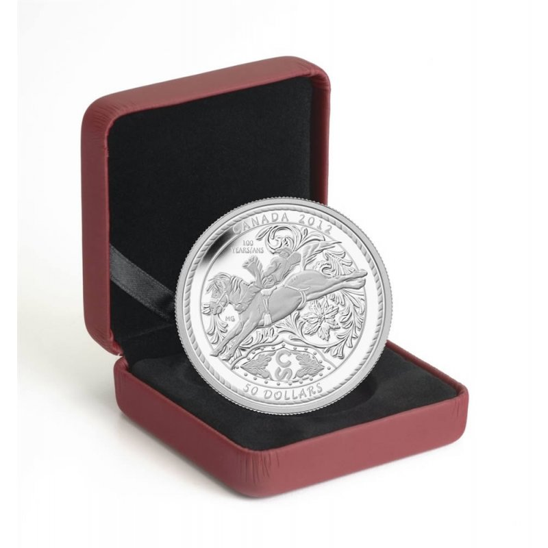 2012 Canada Fine Silver 50 Coin 100 Years Of The